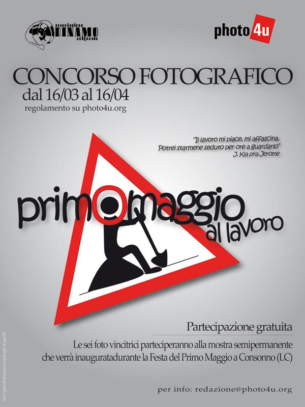 locandina concorso fotografico primo maggio 2009